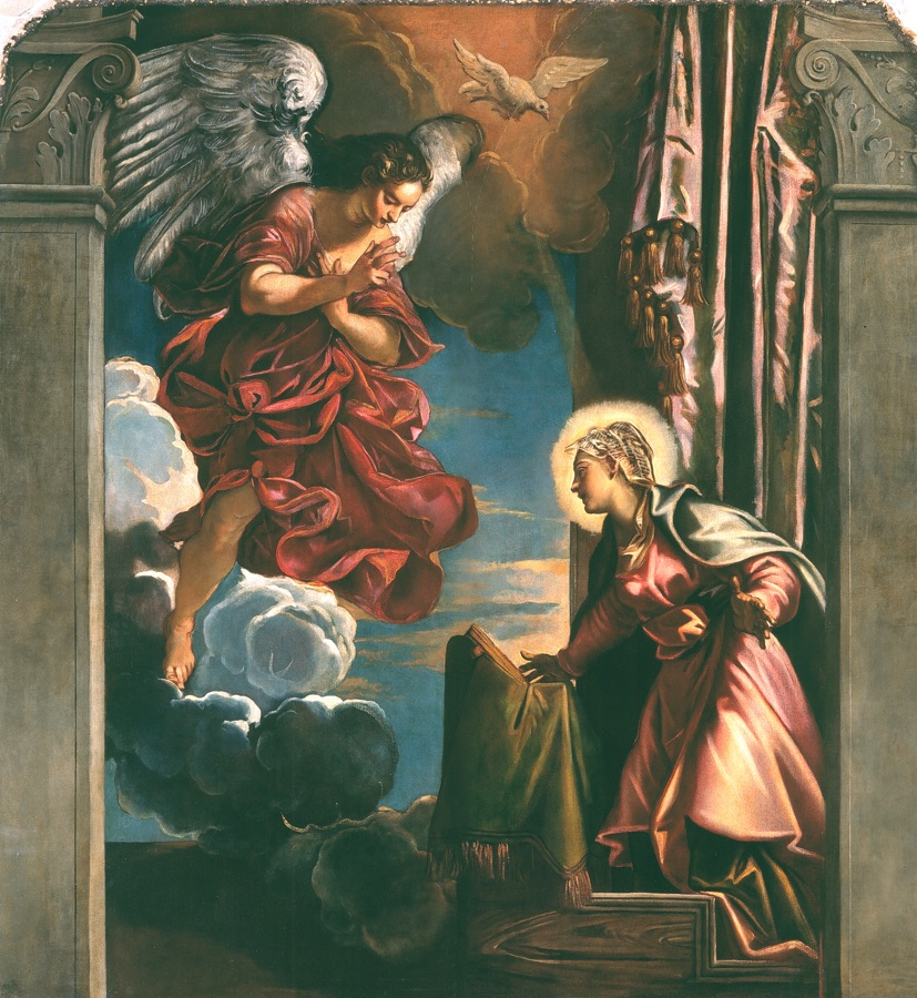 Annunciation, oil on canvas, first half XVIth c.