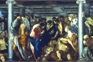 Cristo guarisce il paralitico, olio su tela, 1559