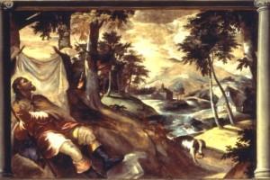 San Rocco nel deserto, olio su tela, 1580
