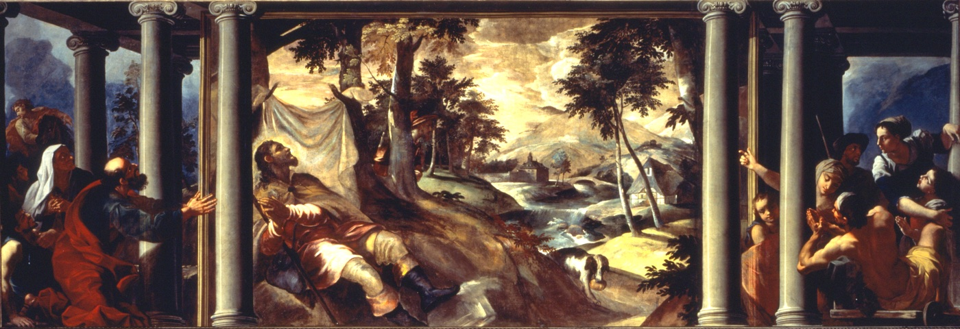 St. Roch in the Desert, oil on canvas, 1580