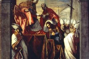 San Rocco presentato al Papa, olio su tela, prima metà del XVI sec.