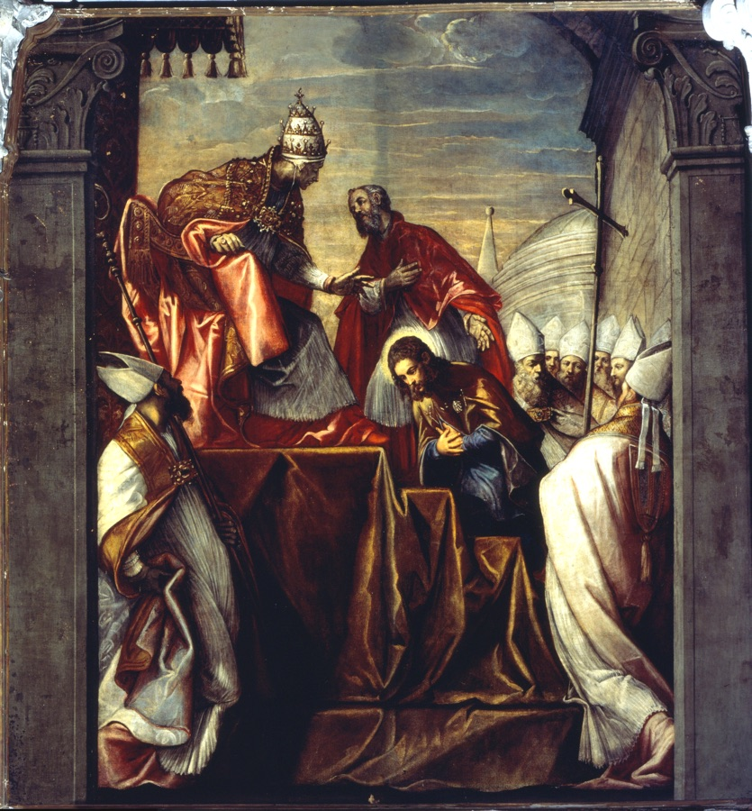 St. Roch before the Pope, oil on canvas, first half XVIth c.
