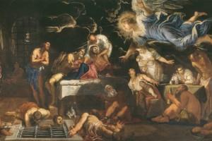San Rocco in carcere confortato da un angelo, olio su tela, 1567