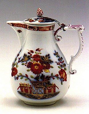 Majolica lustre jug, German, XVIIIth c.