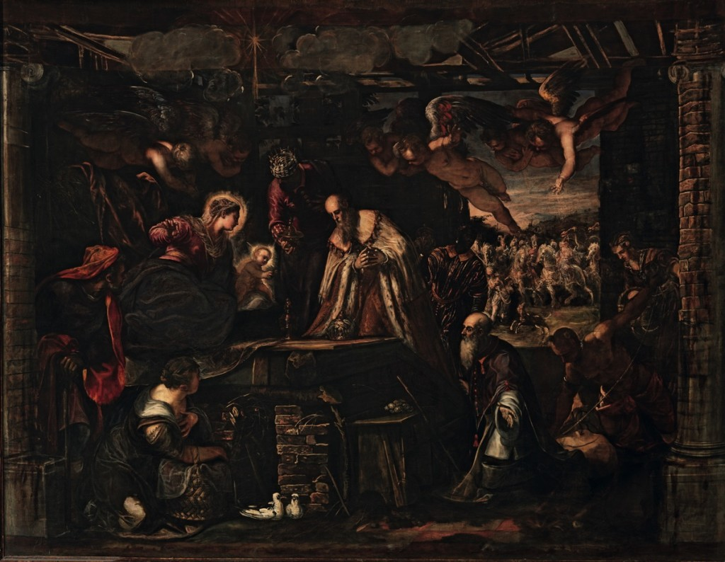 The Adoration of the Magi , oil on canvas (544×425 cm), 1582