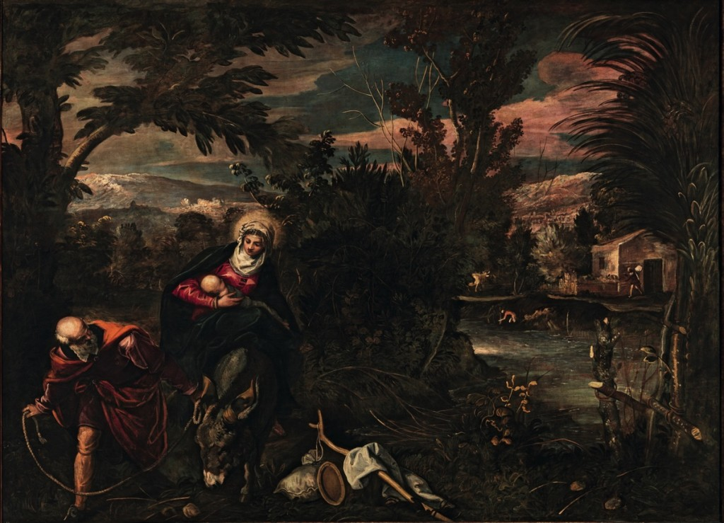 The Flight into Egypt, oil on canvas (580×422 cm), 1582/87
