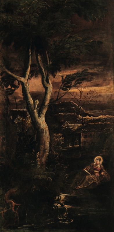 St. Mary Magdalene , oil on canvas (209×425 cm), 1582/87