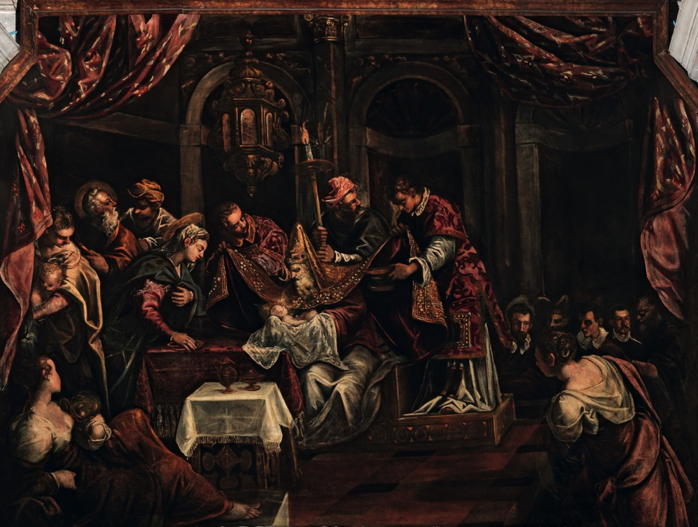 The Circumcision, oil on canvas (482×440 cm), 1582/87