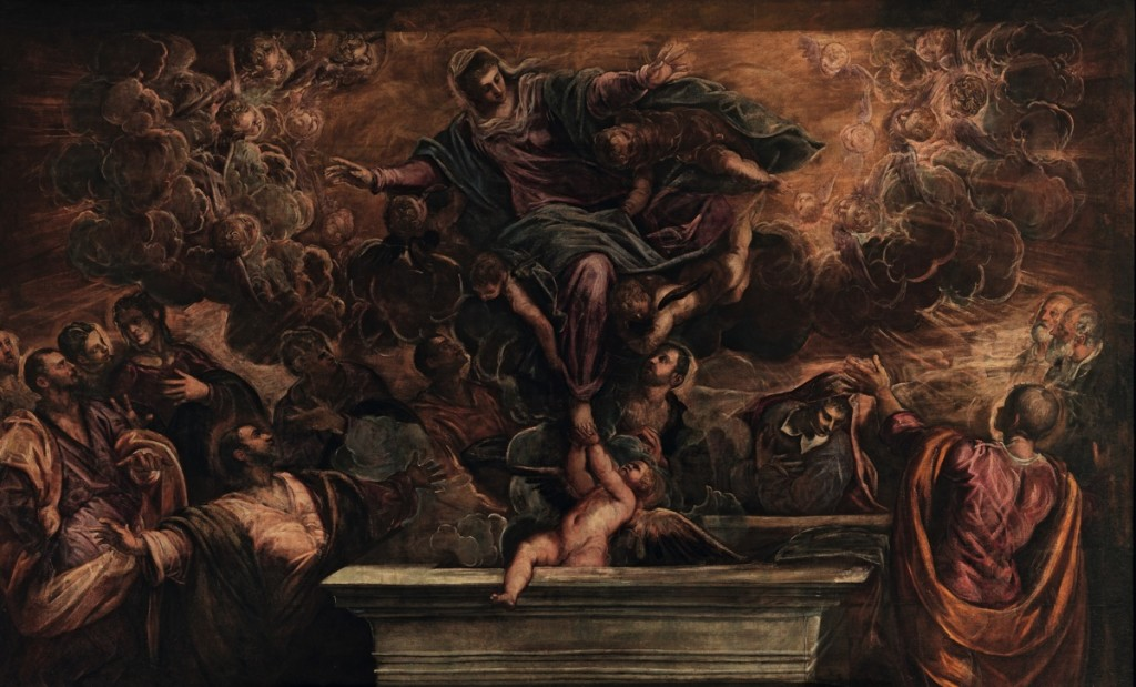 The Assumption of the Virgin , oil on canvas(587×425 cm), 1582/87