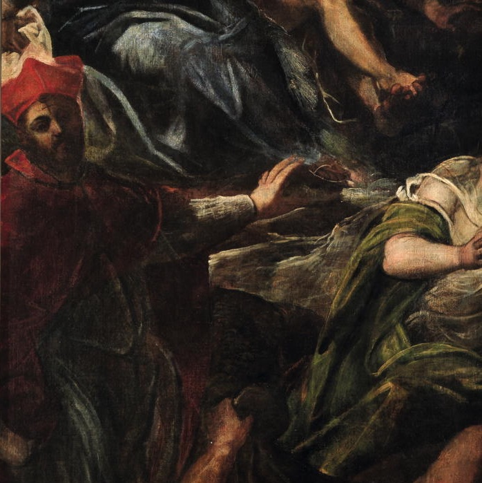 Jacopo Tintoretto, <em>Apparition of St. Roch</em> detail, oil on canvas ,1588