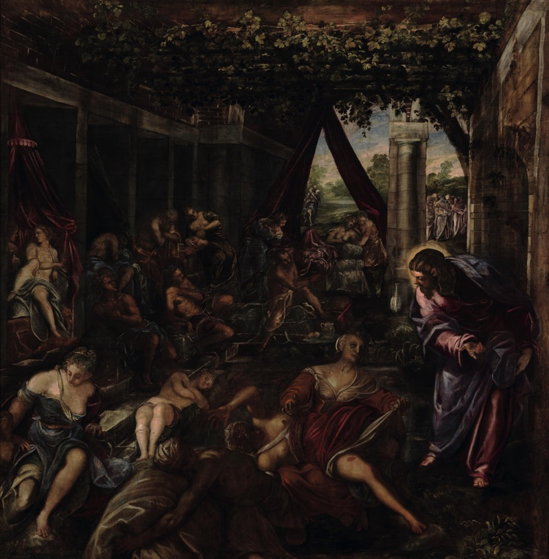 The Pool of Bethesda, oil on canvas (529×533 cm), 1578/81