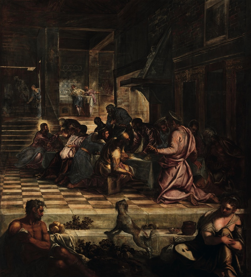 IThe Last Supper, oil on canvas (487×538 cm), 1578/81