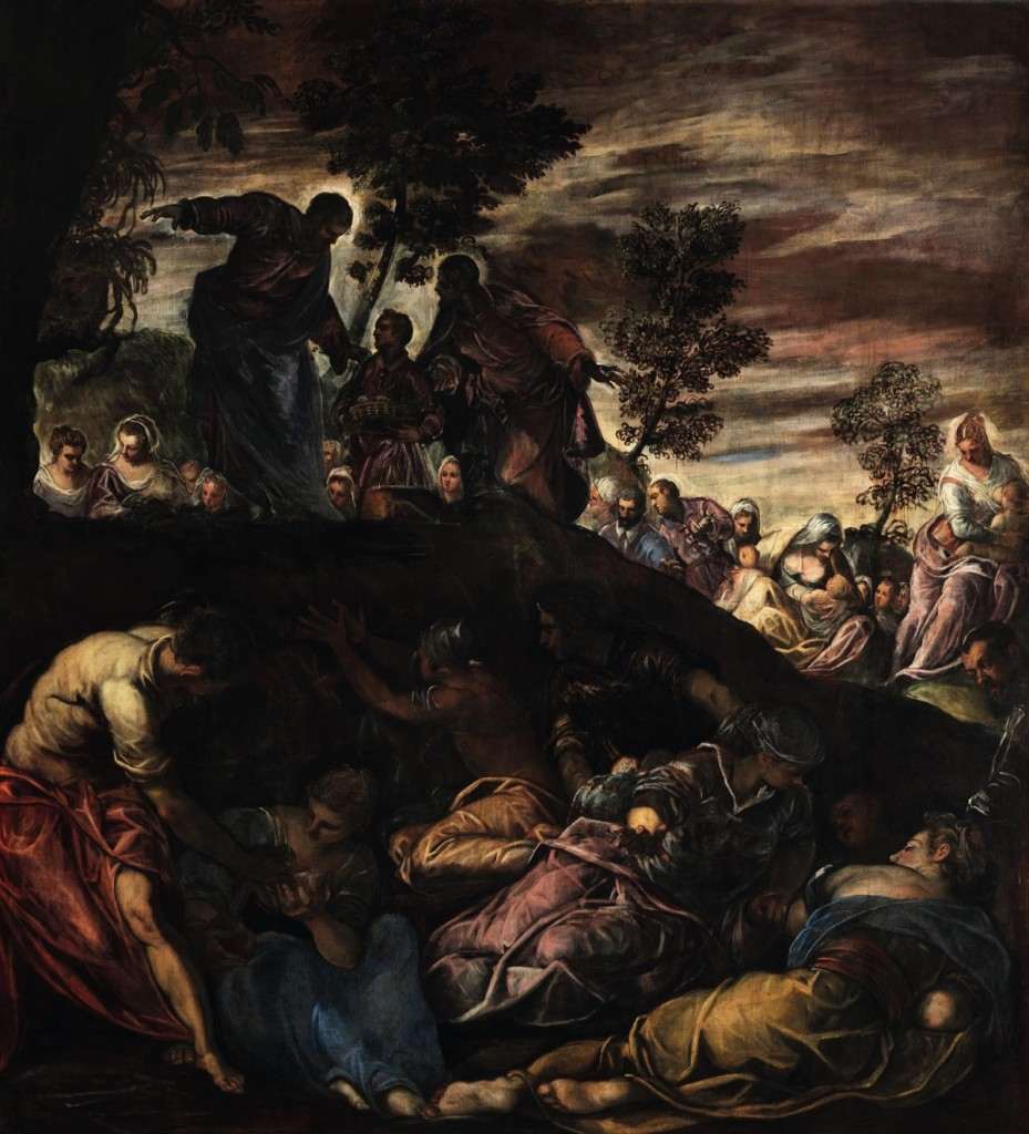 Miracle of the Loaves and Fishes, oil on canvas (460×523 cm), 1578/81