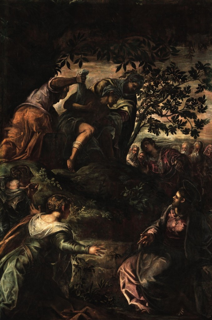 The Raising of Lazarus, oil on canvas (356×541 cm), 1578/81