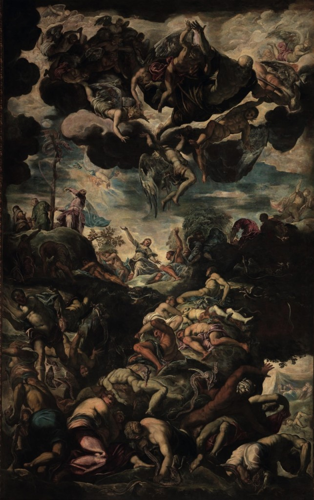 Lifting up of the Bronze Serpent, oil on canvas (520×840 cm), 1575/76