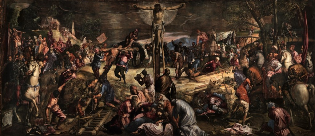 Crucifixion, oil on canvas (1224×536 cm) 1565