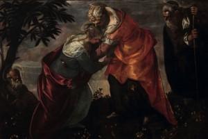 Tintoretto,  Visitazione, olio su tela (237x158), 1588