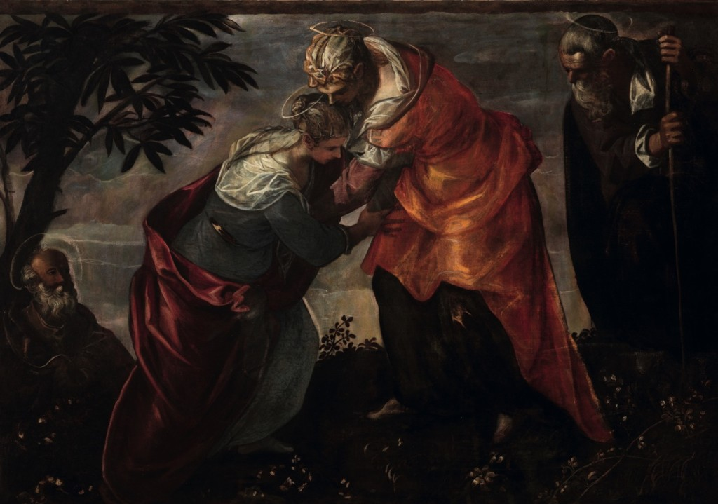 Tintoretto, Visitation, oil on canvas (237×158), 1588