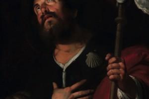 Bernardo Strozzi, san Rocco, olio su tela (67 x78 cm), 1640