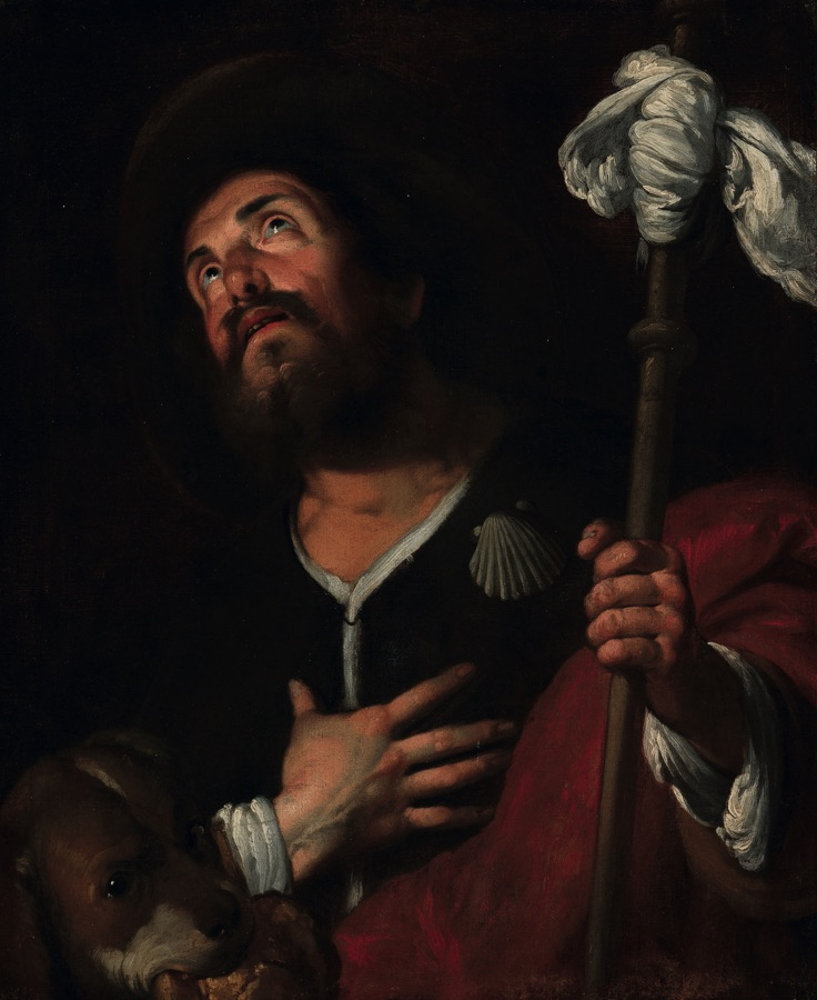 Bernardo Strozzi, St. Roch, oil on canvas (67 x78 cm), 1640