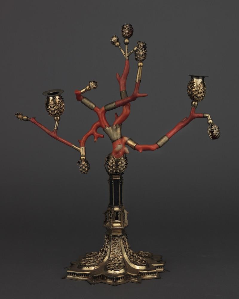 Coral candelabra, Veneto, XVth c.