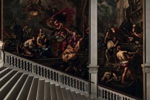 Antonio Zanchi, La Vergine appare agli appestati olio su tela (335x555 cm e 635x705 cm), 1666