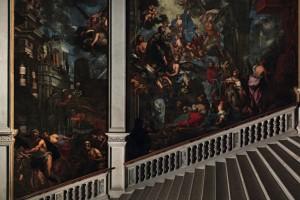Pietro Negri, La Madonna salva Venezia dalla peste,  olio su tela (335x555 cm e 635x705 cm), 1673