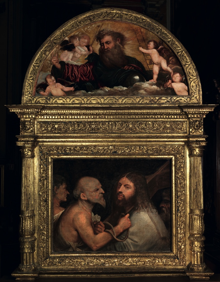 Christ Carrying the Cross with lunette