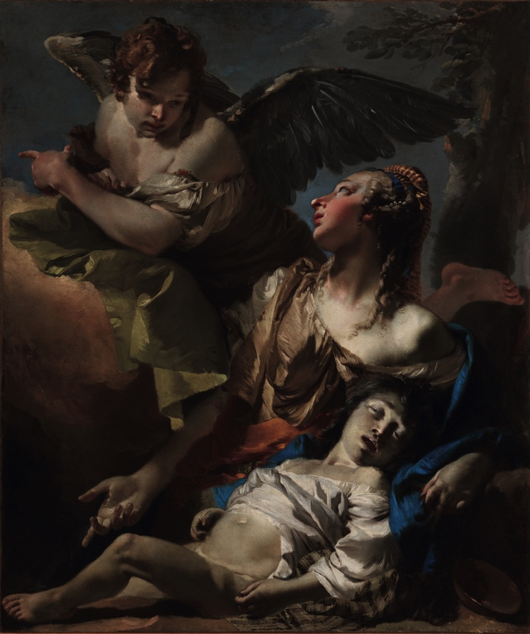 Agar and Ishmael, oil on canvas (120×140 cm), 1733