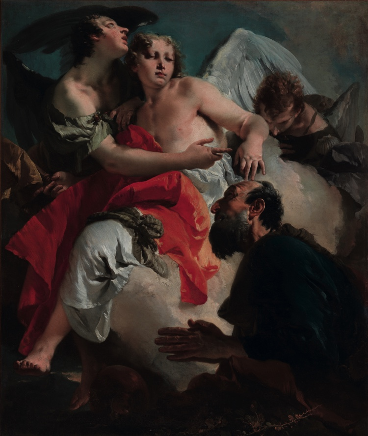Abraham and the Angels, oil on canvas (120×140 cm), 1743