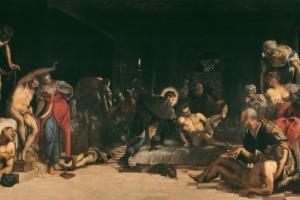 San Rocco risana gli appestati, olio su tela, 1549