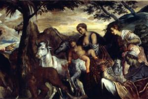 San Rocco benedice gli animali, olio su tela, 1567