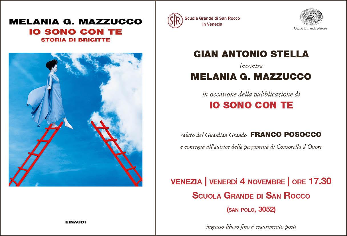 Copertina e invito del nuovo libro di Melania Mazzucco