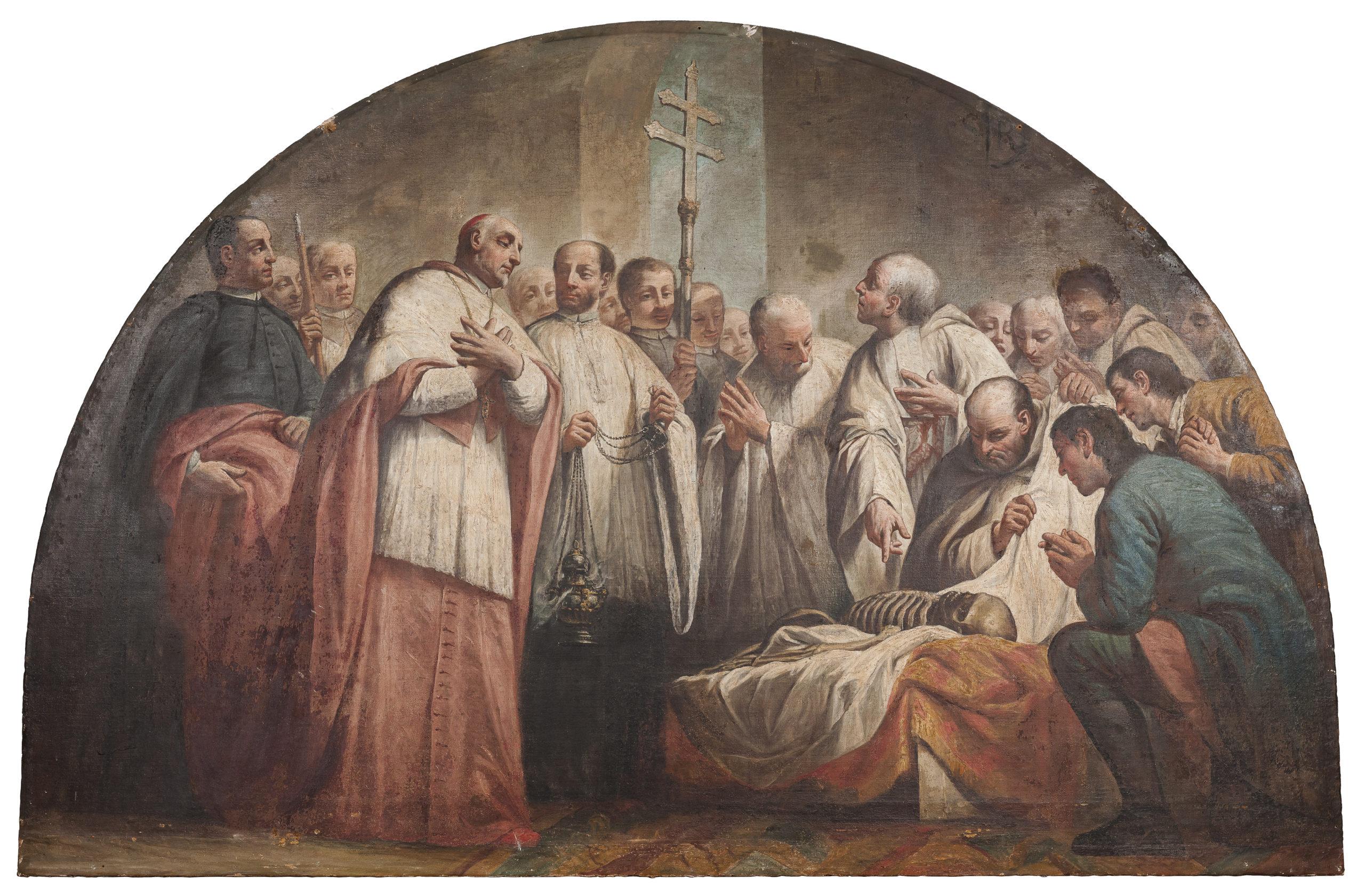 Giuseppe Angeli - Traslazione del corpo di S. Rocco riconosciuto dal patriarca Maffio Girardi (1758)