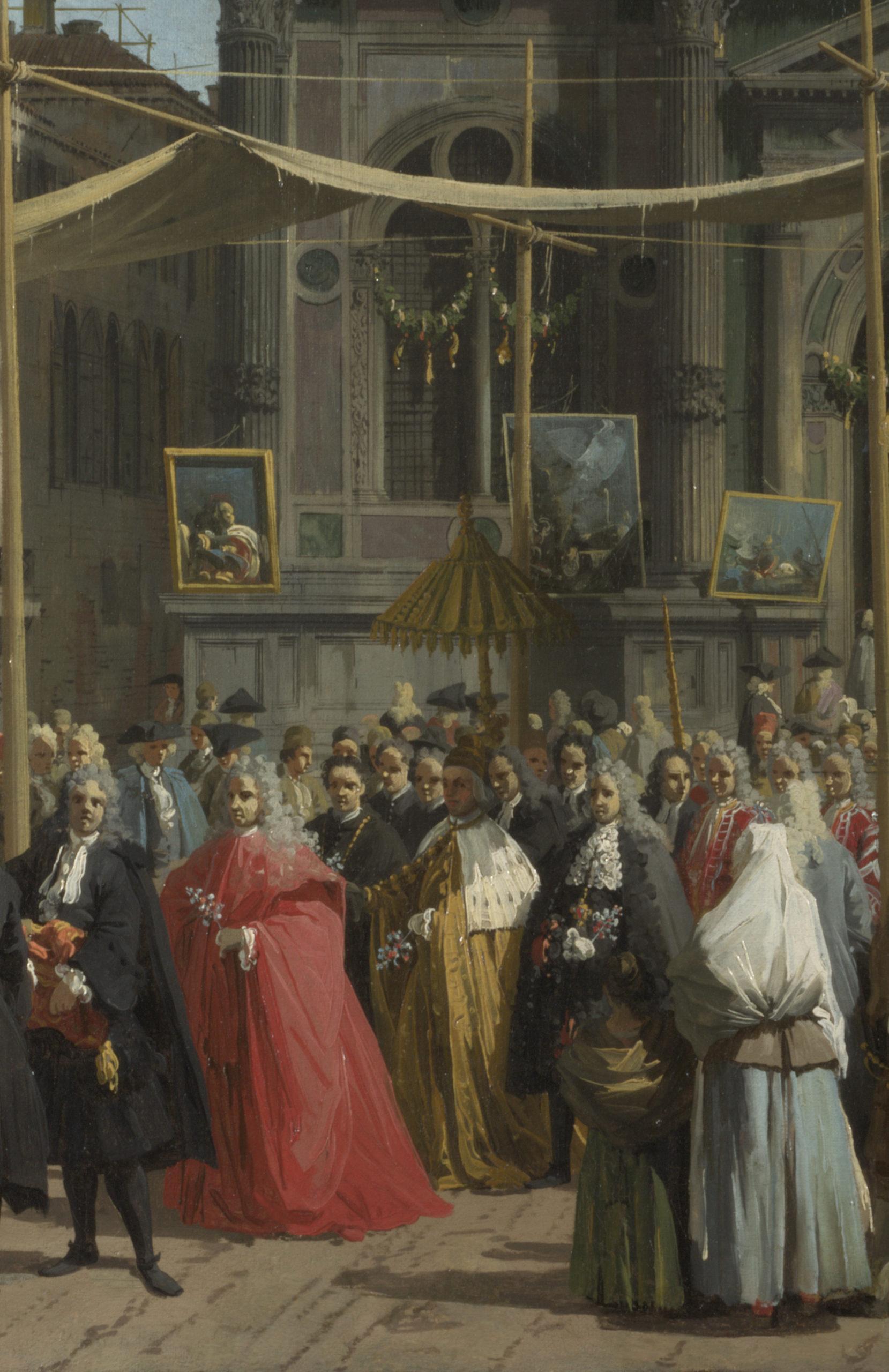 Canaletto, Visita del Doge alla Scuola di San Rocco (dettaglio) - 1735, London National Gallery.