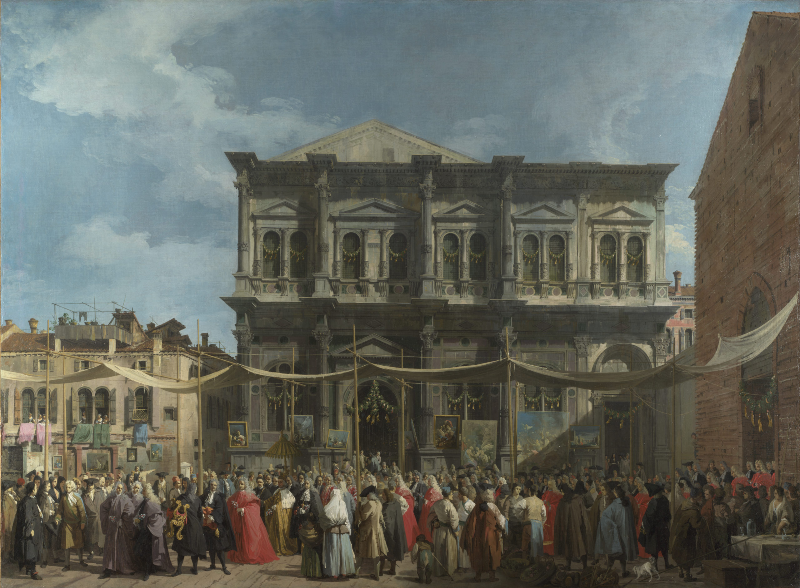 Canaletto, Visita del Doge alla Scuola di San Rocco - 1735, London National Gallery.